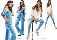 """Modelo Esquerda: Macacão (ref.: MCV1650)  Modelo Direita: Blusa (ref.: BLV1672) Calça marca """"Lois"""""""