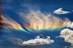 Fire Rainbow... an extremely rare phenomenon that occurs only when the sun is high allowing its light to pass through high-altitude cirrus clouds with a high content of ice crystals.