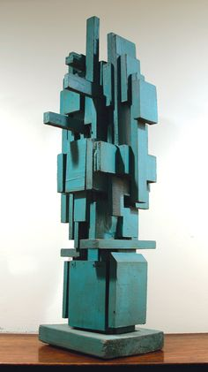 Louise Nevelson Untitled, 1950's, Painted Wood, 31″ x 12″ x 11 1/2″