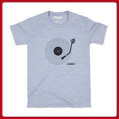 DJ Shirt - Keep It Vinyl: Minimal - Bass Deck Decks Turntable LP Hip Hop Screen Printed T Shirt - M - Cool and funny shirts (*Amazon Partner-Link)
