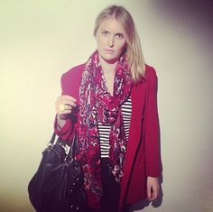 @BOST LTD Head Graphic Designer Rosie loves #colour like no other! Looking all things rosy in her #BOST #vintage Blazer at Semi Permanent Creative Conference Sydney 2013