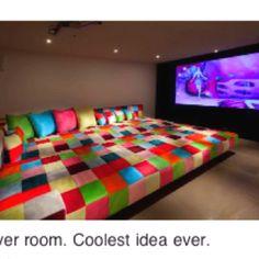 Sleep over room! Awesome idea!!