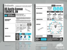 The Community Feature Sheet® for Real Estate Marketing and Realtors Fitness Facilities, Real Estate Marketing, Home Buying, Open House, Infographics, Transportation, The Neighbourhood, Company Logo, Branding