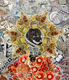 """Saatchi Online Artist: Pavel Brat; Paper, 2011, Assemblage / Collage """"iCon #1"""""""