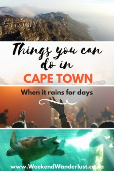 Things you can do in Cape Town when it rains for days. Your fun doesn't need to stop just because of a little bit of rain.