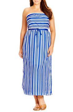 e3ec3450379 City Chic  Summer Stripe  Strapless Maxi Dress (Plus Size) Striped Maxi  Dresses