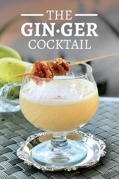 Gin·ger This cocktail recipe was submitted by reader Gitanjali Budhrani from India, and features a classic flavor combination of ginger and Cardamom. Ginger Cocktails, Gin Cocktail Recipes, Margarita Recipes, Summer Cocktails, Cocktail Drinks, Fun Drinks, Yummy Drinks, Alcoholic Beverages, Easy Drink Recipes