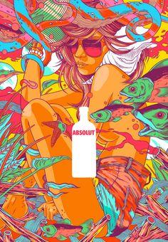 Bicicleta Sem Freio (Brazilian Illustration Studio), Absolut Poster.