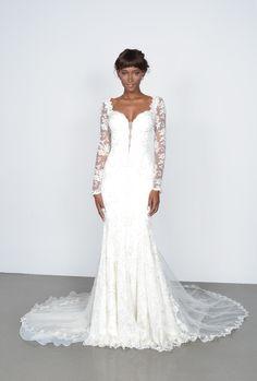 lace sleeve wedding dress