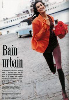 'Bain Urbain' from…………..Vogue Paris February 1990 feat Yasmeen Ghauri