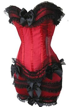 Plus Size Wedding Satin Strapless Lace up Padded Cup Corset & Tutu Outfit Party