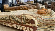 "The largest archaeological find of 2020: The colourful, sealed Sarcophagi were buried in 320 BC in what is known as ""Saqqara"" - an ancient Egyptian burial site. Discoveries just beginning. The 140 painted wooden sarcophagi and gilded statues unearthed in Saqqara are just the beginning, says Egypt's Minister of Antiquities: ""Whenever we empty a burial shaft of sarcophagi we find an entrance to another."" 2500 BC tumb discovered in nov 2020 ancient Egypt archeology It is almost a miracle how…"