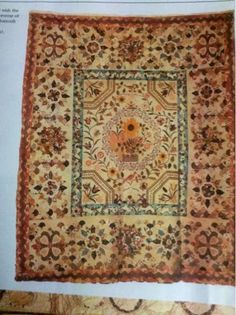 "This is the antique quilt from the 1790s which inspired my ""Pemberley"" design."