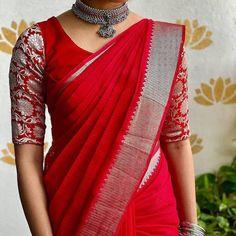 Plain Lehenga, Half Saree Lehenga, Sarees, Pattu Saree Blouse Designs, Saree Trends, Saree Models, Sexy Blouse, Saree Collection, Beautiful