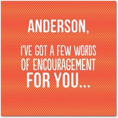 Choice Words - Encouragement Greeting Cards - Magnolia Press - Blaze - Orange : Front