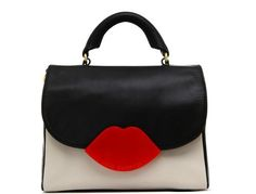 Sealed with a kiss, this Lulu Guinness bag — a little mod and a little bit rockabilly — will match your red lips.