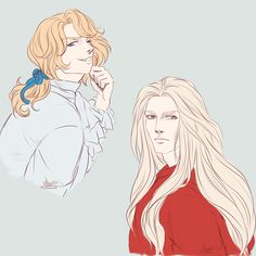 "abyss-no-ishi: ""Some Vampire Chronicles doodles because I continued reading the books where I left it, and I needed doodle some of my favorite characters: Armand, Louis and Claudia. Also Lestat and..."