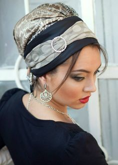 Safari Ready-to-Wear Turban- Black& Gray | ModLi