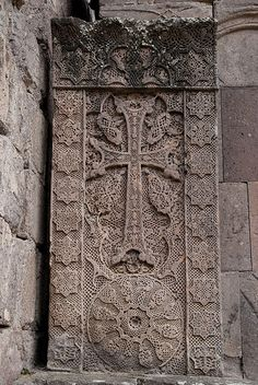 The famous khachkar at Goshavank, carved in 1291 by the artist Poghos