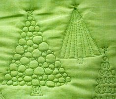 These Christmas Tree Free Motion Quilting patterns are perfect for the holiday quilt you've been dreaming of.