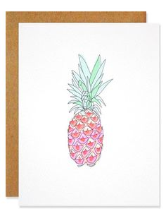 Neon Pineapple - Greeting Card – hartlandbrooklyn