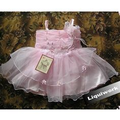 Discount Pink Beaded Spaghetti Flower Girl Girls Pageant Party Dress SKU-10501006