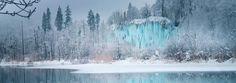 Plitvice Lakes National Park in Winter, Croatia -