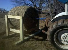 Our round bale feeder. We've completely eliminated hay ...