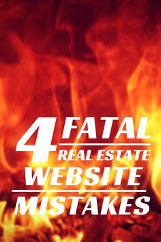 Are you looking at your website and wondering why it doesn't produce leads? These 4 ideas will get your site cooking leads for you in no time.  There are video demos on how to easily fix two of the issues.  Don't let this year go by without looking to the web for more real estate leads. #marketing #realestate