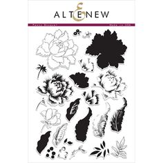 Altenew PEONY BOUQUET Clear Stamp Set