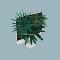L'illustratrice russe Sasha Katz crée ces petites animations animées d'objets et de scène dans lesquelles se mélangent les éléments réalistes et les éléments cubistes de voxels à faible résolution.