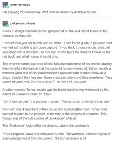 Nature, you scary human/alien relations space australia, tum My Tumblr, Tumblr Posts, Tumblr Funny, Funny Memes, Hilarious, Writing A Book, Writing Tips, Writing Prompts, Art Prompts
