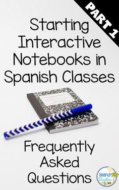 Starting Interactive Notebooks in Spanish Classes