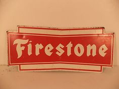 Vintage 1950s Firestone Tires Gas Station Tire Advertising Sign | eBay