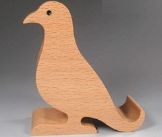 Wooden Bird Shaped Mobile Phone iPad Holder Stand