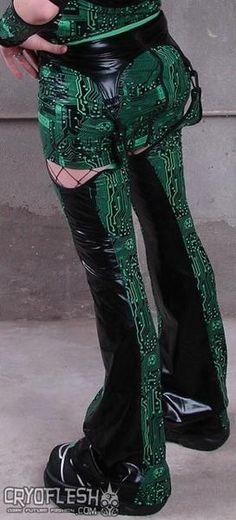LIP SERVICE Circuit City mini skirt eith legwarmers #56-3-00 - black/BLACK size M-L