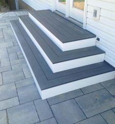 New Ideas Backyard Patio Steps Decks Patio Steps, Patio Ideas With Steps, Steps For Deck, Wood Steps, Deck To Patio Ideas, Patio Entrance Ideas, Building Deck Steps, Terrace Ideas, Deck Patio