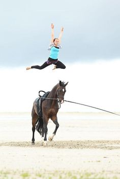 horse vaulting on the beach. I have vaulted once and I have to admit it's much harder than it looks. And it looks pretty hard!!!