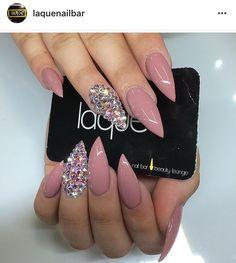 Mauve Stilletto Nails