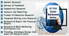 Get your desired web research services at Data Matrix Services.