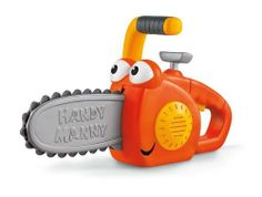 Fisher-Price Disney's Handy Manny Ripp Chain Saw by Fisher-Price. $71.88. From the Manufacturer                Boys can cut wood parts just like dad with Ripp The Chain Saw. Features a realistic blade-rotating action and fun sound effects and character phrases.                                    Product Description                 If there's one thing kids need, it's the Handy Manny Ripp the Chain Saw Toy! Play 'cutting' with this safe plastic toy tool! Electro...