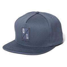 Stitch Snapback Hat Slate