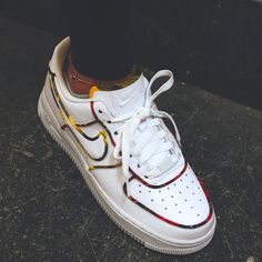 info for 538c9 875c2 This Nike Air Force 1 Low features a clean White leather upper highlighted  with the Tartan print arrives on the trimming of the shoe.