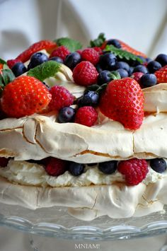 tort bezowy Pavlova Cake, Sweet Recipes, Cooking Recipes, Sweets, Fruit, Ethnic Recipes, Drinks, Food, Baking