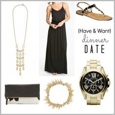 Dinner date outfit style.  {Have & Want} http://thekeytokays.com