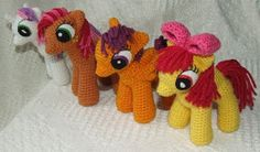 My Little Pony Amigurumi - School-Age Ponies ~ Free Pattern http://knitoneawesome.blogspot.com.es/2013/03/my-little-pony-friendship-is-magic.html