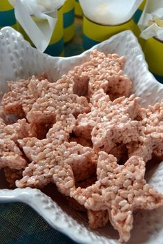 Pink Marshmallow Rice Crispies Starfish More