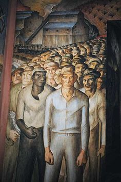 """""""Murals--some controversial--created by 25 of California's leading artists of the 1930s reflect scenes of the Great Depression, landscapes, farm workers, industries, a stylish soiree, and vibrant city life. Tour includes some murals not usually open to the public."""""""