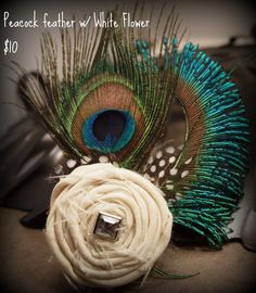Feather fascinator by Styles By M