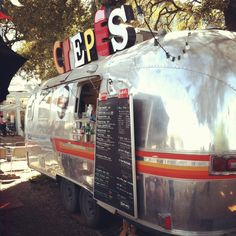 Inspiration for the US Superbowl in 9 days - Vintage Crepes food truck, South Congress Austin.